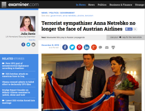 Netrebko unterstützt Kriegsverbrecher