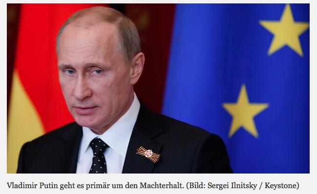 Vladimir Putin geht es primär um den Machterhalt.