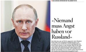 3-Seiten Putin-Lügen für Schweizer Zeitungsleser –