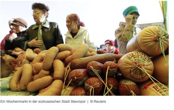Ein Wochenmarkt in der südrussischen Stadt Stavropol
