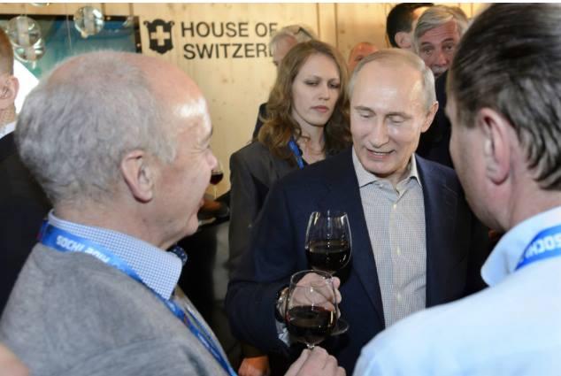 Ueli Maurer; Putin in Sotschi 2