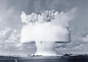Underwater atomic bomb test at Bikini Atoll, conducted by thee U.S. army on July 25, 1946 | Flickr