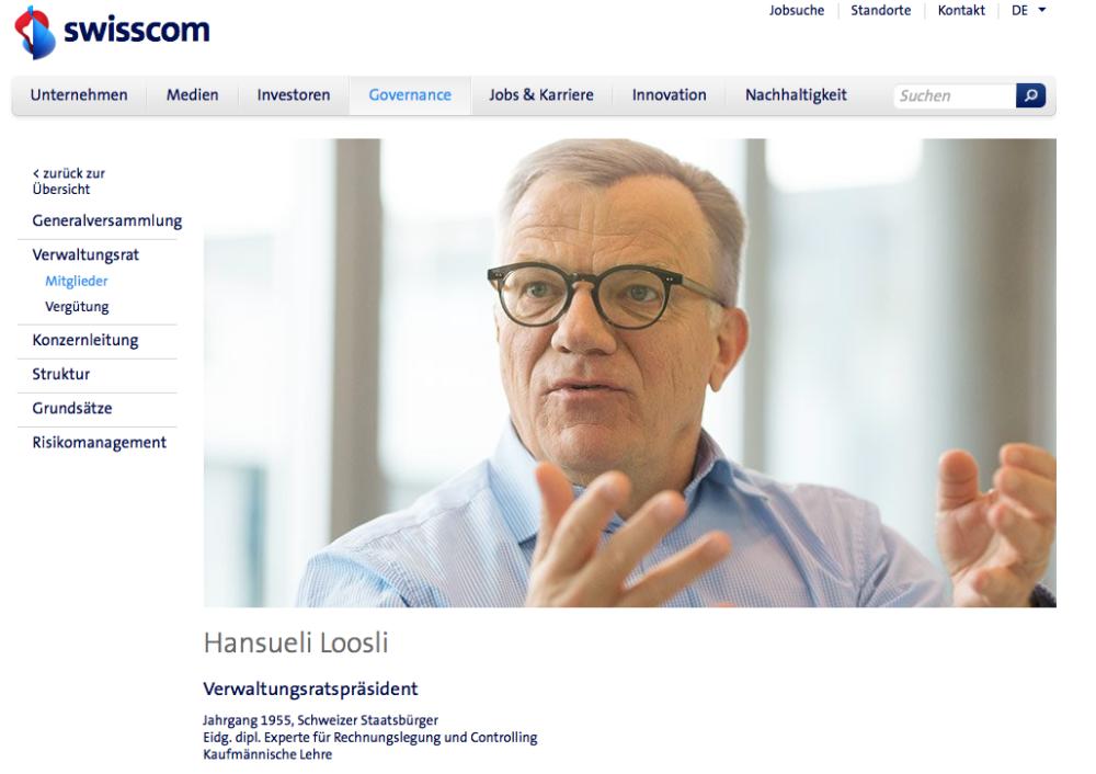 Hansueli Loosli, Verwaltungsratspräsident