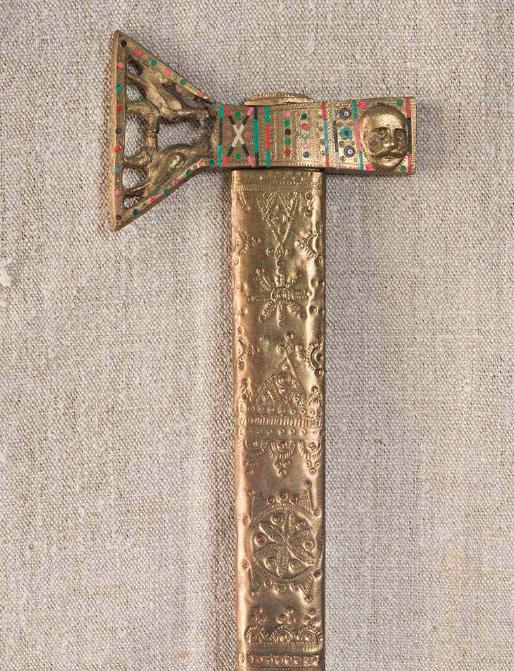 Axe, XIX century wood, carved length – 84 cm bludgeon length – 15 cm Kosiv region