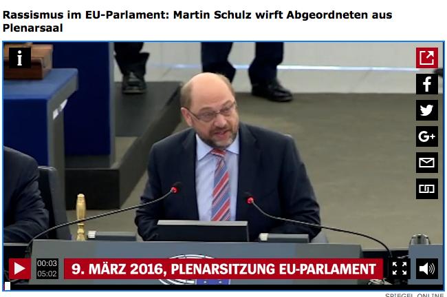 Martin Schulz, im EU-Parlament am 09. März 2016