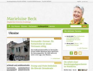 Ukraine-Politik von Marie Luise Beck