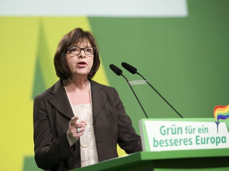 Die Fraktionsvorsitzende der Grünen im Europaparlament, Rebecca Harms. (Imago : Jens Jeske)