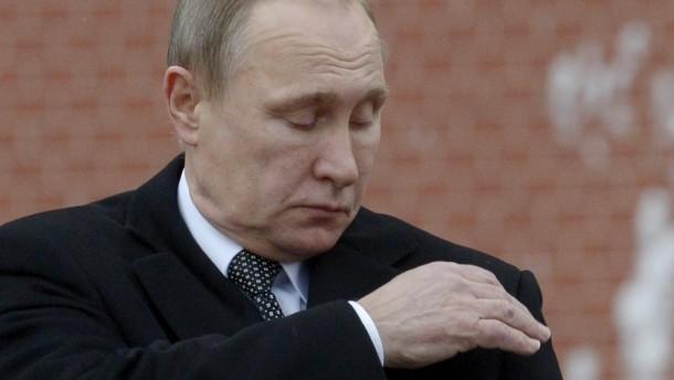Wladimir Putin Ende Februar in Moskau