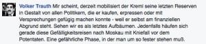 Kommentar von Volker Trauth