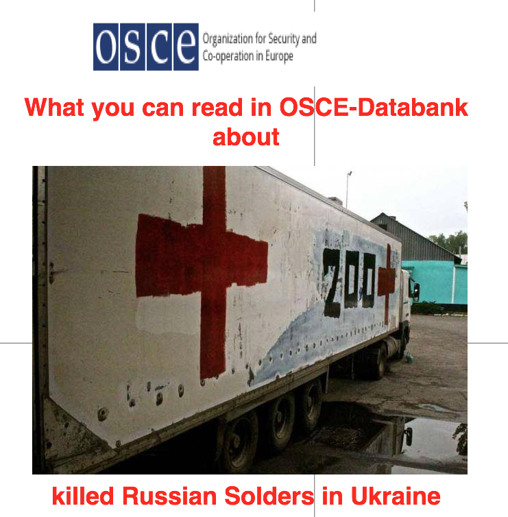 what you can read in OSCE Databank about killed Russian soldiers in Ukraine