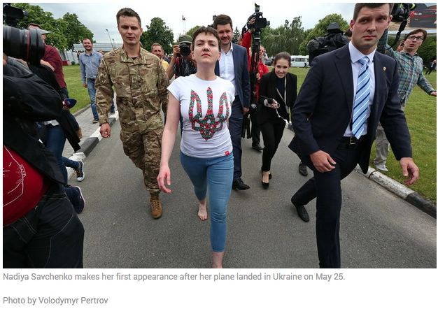 Nadja Savchenko is free