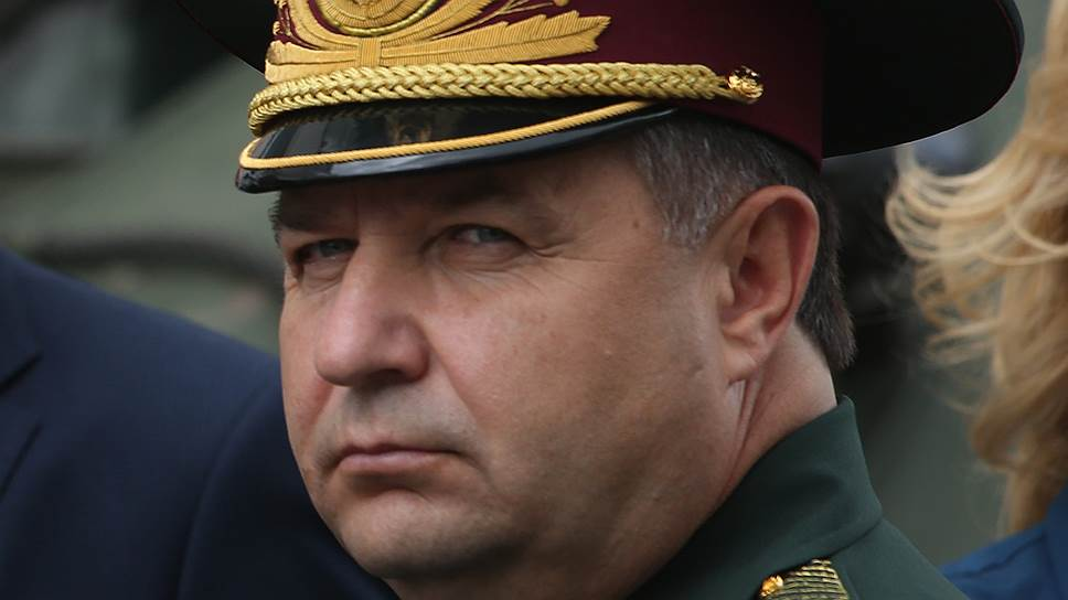 Ukrainian Defense MInister Stepan Poltorak