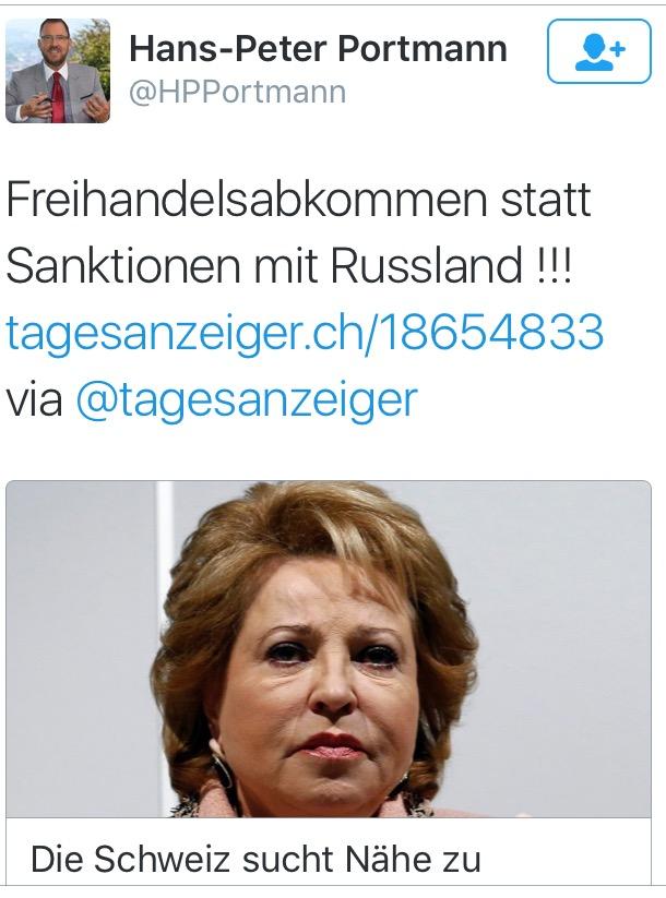 Portmann (FDP) sucht Nähe zu Putin's Russland