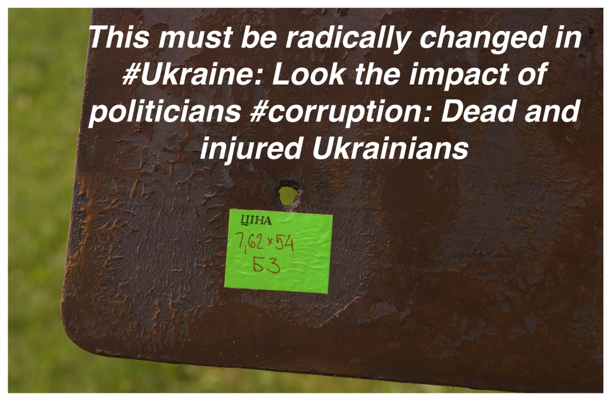 This must be radically changed in #Ukraine: Look the impact of politicians #corruption: Dead and injured Ukrainians