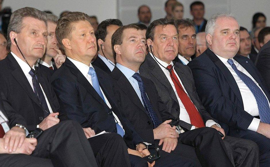 Nordstream 2 AG-CEO Warnig mit Freunden