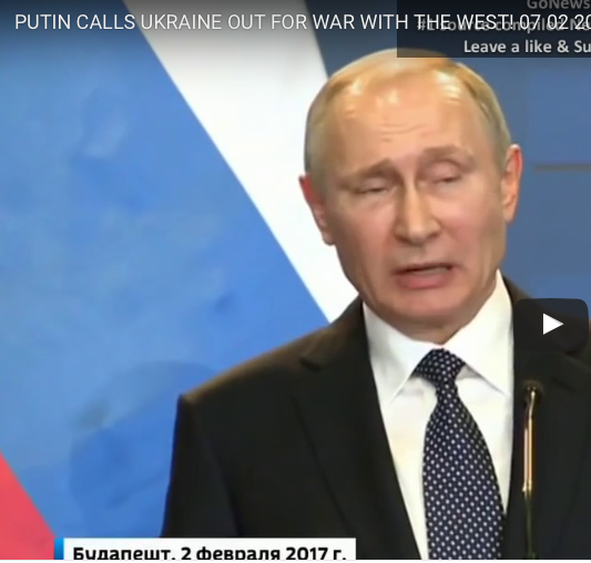 Putin with foaming at his gob