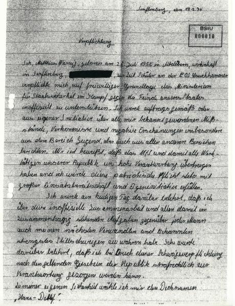 Aus den Stasi Akten – CEO von Nordstream 2 AG