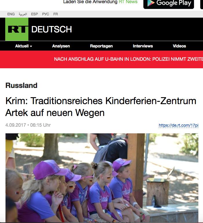 Russland missbraucht Kinder zu politischen Zwecken