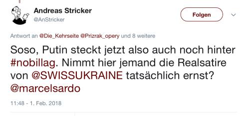 Top Kreml Troll Michel Sardo beeinflusst NoBillag Diskussion aktiv durch sein Netzwerk