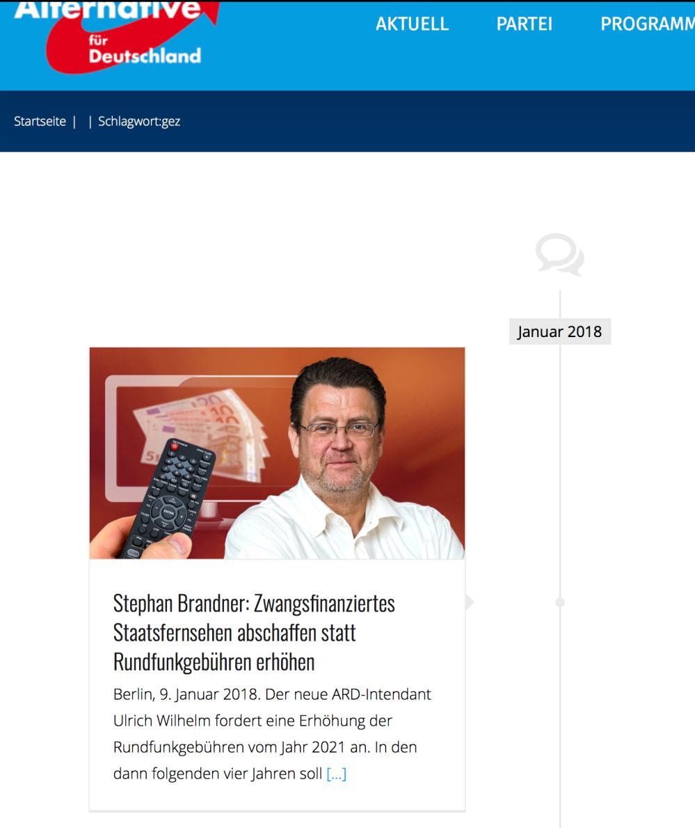 Stephan Brandner: Zwangsfinanziertes Staatsfernsehen abschaffen statt Rundfunkgebühren erhöhen
